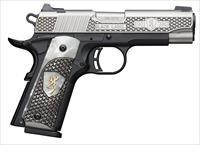 Browning 1911 380ACP Pistol - White Pearl Engraved Grip