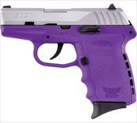 SCCY 9MM Pistol w/Purple Frame and SS Slide