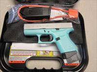 Glock 43 9MM Pistol in Robins Egg Blue