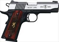 Browning 1911 380ACP BLACK LABEL MEDALLION STAINLESS