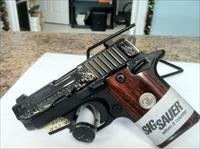 Sig Sauer P238 Engraved w/ Rosewood Grips