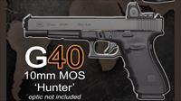 "The one you have been waiting for! GLOCK 40 10mm Long slide ""Hunter"" 15RDs of power..."