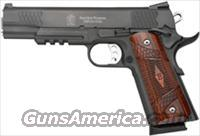 "S&W 1911TA ES .45ACP 5"" 8-SHOT FNS S/S BLACK MELONITE WOOD"