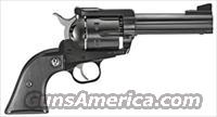 "RUGER BLACKHAWK .357MAG 4-5/8"" AS BLUED BLACK CHECKERED SYN"
