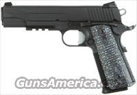 SIG 1911 45ACP BLK EXT HOGUE G10 NIGHT SIGHTS