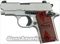 SIG SAUER P238 380ACP SS NS ROSEWOOD GRIPS 1 6RD