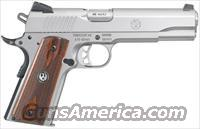 RUGER SR1911 .45ACP FS 8-SHOT STAINLESS WOOD GRIPS