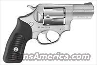 "RUGER SP101 .38SPEC+P 2.25"" FS STAINLESS BLACK RUBBER"