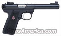 "RUGER 22/45 TARGET .22LR 5.5"" BULL AS BLACK SYNTHETIC"