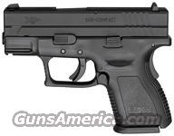 "SPRINGFIELD XD SUB-COMPACT 9MM LUGER 3"" FS 13-16SH BLK/BLK W/XD GEAR"