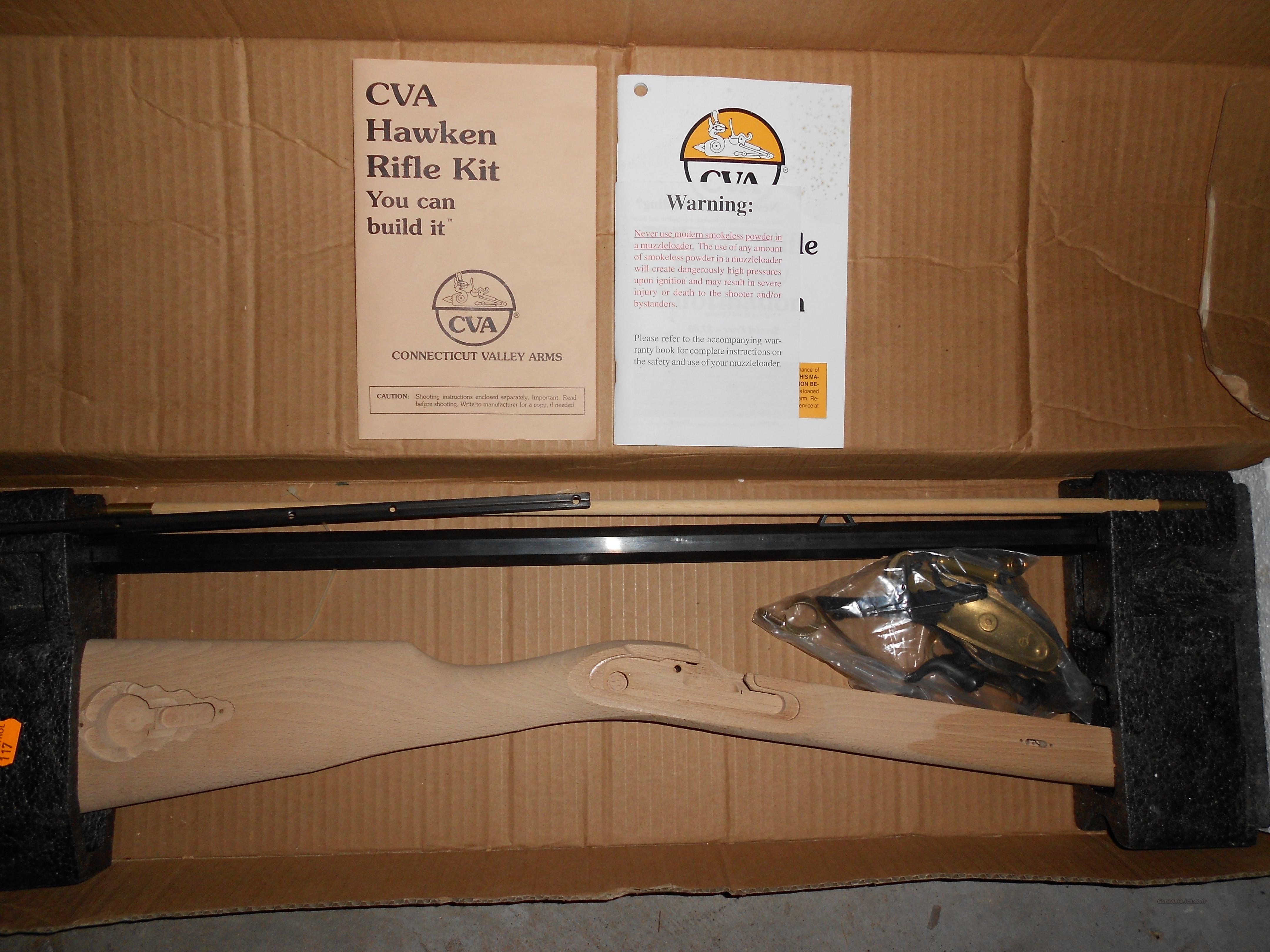 50 Cal CVA St  Lewis Hawken Rifle Kit Percussion