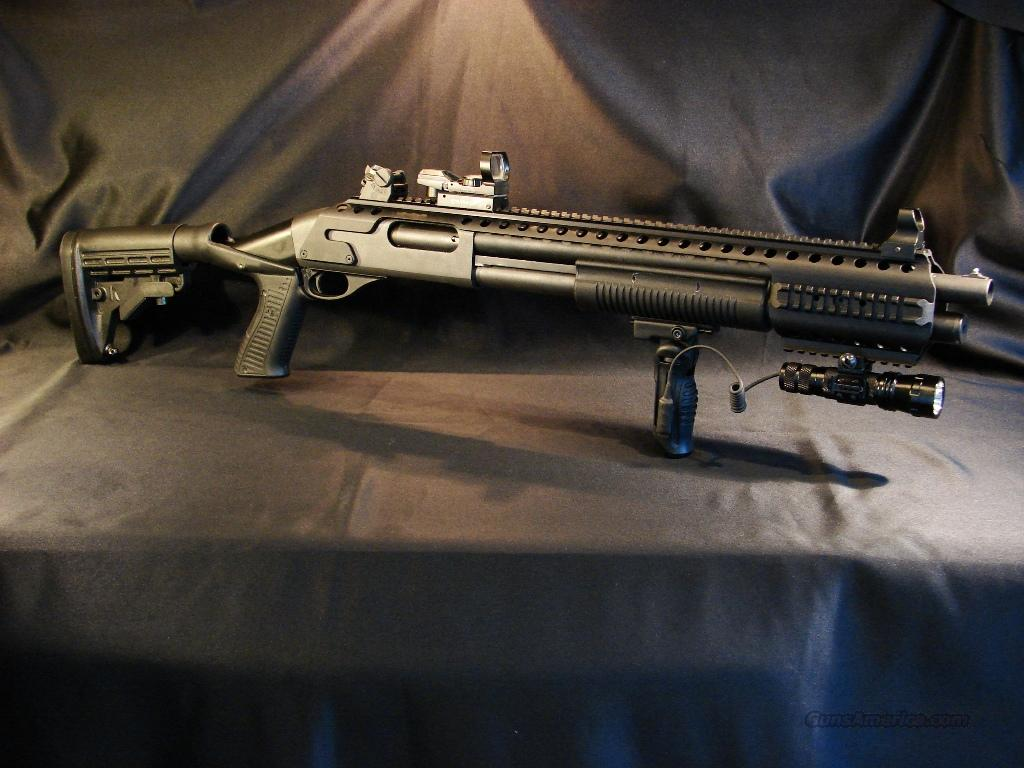 Remington 870 1100 1187 aluminum picatinny rail tactical mount sight red dot