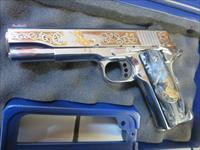 Colt 1911 Series 70 Limited Edition El Potro Rampante Engraved #132 NIB .38super ONE OF ONLY 501 Made .38 O1073CCS-EPII Bright Polished Stainless
