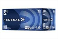 3200 round Case Federal Range Pack 40gr. LRN .22lr Ammunition 729B800