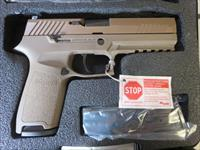 "Sig Sauer P320 Full FDE 9mm 17+1 4.7"" Full Size Night Sights SALE PRICE"