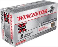 500 rnd Case .38 Special Winchester Super-X 125gr. +P JHP Self-Defense Ammunition X38S7PH 38spl