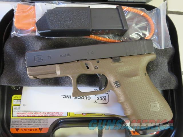 Glock 19RTF2 G19 9mm FDE Frame NIB 15+1 RTF 19 SALE PRICE PT1950203D