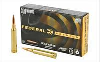 120 rounds Federal Gold Medal Match 215gr. Berger .300 Win Mag Ammunition GM300WMBH1