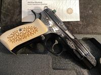 CZ 75 B 45th Anniversary 9mm 16+1 91137 Engraved Limited Edition CZ75 75B Tritium Night Sights
