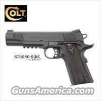 "Colt Rail Gun, Government Model 5"" .45ACP 1911 (Black Cerakote)"