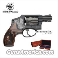 Smith & Wesson Model 442 Revolver- Machine Engraved .38 SPCL with Mahogany Presentation Case/Box (Ships FREE, no Credit Card Upcharge) LIMITED PRODUCTION, NO INTERNAL LOCK