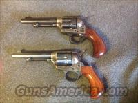 Cimarron Lightning Pair Blue Finish Single Action Revolvers .38 Special (Non-Consecutive Pair)