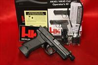 HK HK45 COMPACT TACTICAL V3 45acp 2 10 ROUND MAGS NIGHT SIGHTS 45 DECOCKER ONLY THREADED BARREL