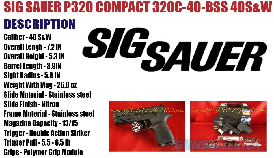 Sig Sauer P320 COMPACT 320C-40-BSS 40S&W 2 MAG