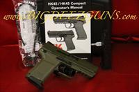 Heckler & Koch HK HK45 HK45C COMPACT V1 OD ARMY GREEN 45ACP SAFETY DECOCKING LEVER 45ACP 745031GG-A5