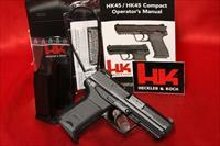 HK HK45 V7 LEM LE COMPACT 45acp 3 8 ROUND MAGS NIGHT SIGHTS 45 745037LE-A5