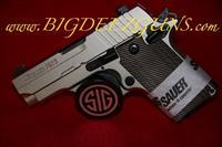 Sig Sauer P238 NICKEL 238-380-NI .380ACP 1911 POCKET CONCEAL CARRY 6 ROUND