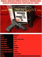 Heckler & Koch HK HK45C COMPACT TACTICAL V1 THREADED BARREL 45ACP SAFETY DECOCKING LEVER 45ACP 10 ROUND 745031T-A5