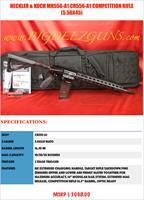 "Heckler & Koch HK MR556-A1 CR556-A1 COMPETITION RIFLE 16.5"" BARREL TARGET OPTIC READY"