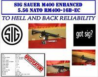 "Sig Sauer M400 ENHANCED MAGPUL 556 NATO 16"" AR 223"