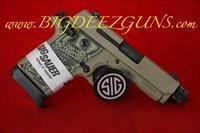 Sig Sauer P938 SCORPION THREADED BARREL 938-9-SCPN-TB FDE 9MM 1911 POCKET CONCEAL CARRY 7 ROUND