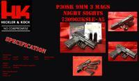 Heckler & Koch HK P30SK LE V3 SUB COMPACT 9MM SIDE SAFETY REAR DECOCKING BUTTON DA / SA (3) 10 ROUND MAGS 730903KSLE-A5
