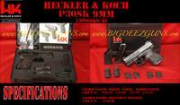 Heckler & Koch HK P30SK DA SA SAFETY DECOCKER NS 9mm SUB 2 MAG