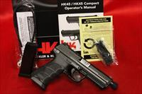 HK HK45 TACTICAL V7 LEM 45acp 2 10 ROUND MAGS NIGHT SIGHTS 45 THREADED BARREL
