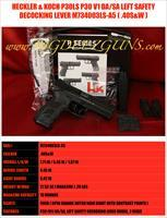 HECKLER & KOCH HK P30 P30L V3 40S&W SAFETY DECOCKING LEVER LONG SLIDE DA / SA (2) 13 ROUND MAGS M734003LS-A5
