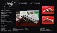 Kimber CUSTOM CDP II 45ACP 1911 FULL SIZE NIGHT SIGHTS
