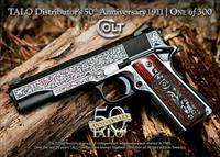 Colt Talo 1911 50th Anniversary '' RAY ARMAND INGRAVED'' Serial # 179