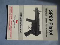 H&K SP89 PISTOL INSTRUCTION MANUAL .....9MM X 19MM PARABELLUM