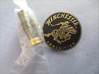 Winchester Memorabilia  Winchester AA Shot-shell Dark Gray Hat Lapel Pin &Winchester Ammunition Lapel Pin Black Gold Plastic