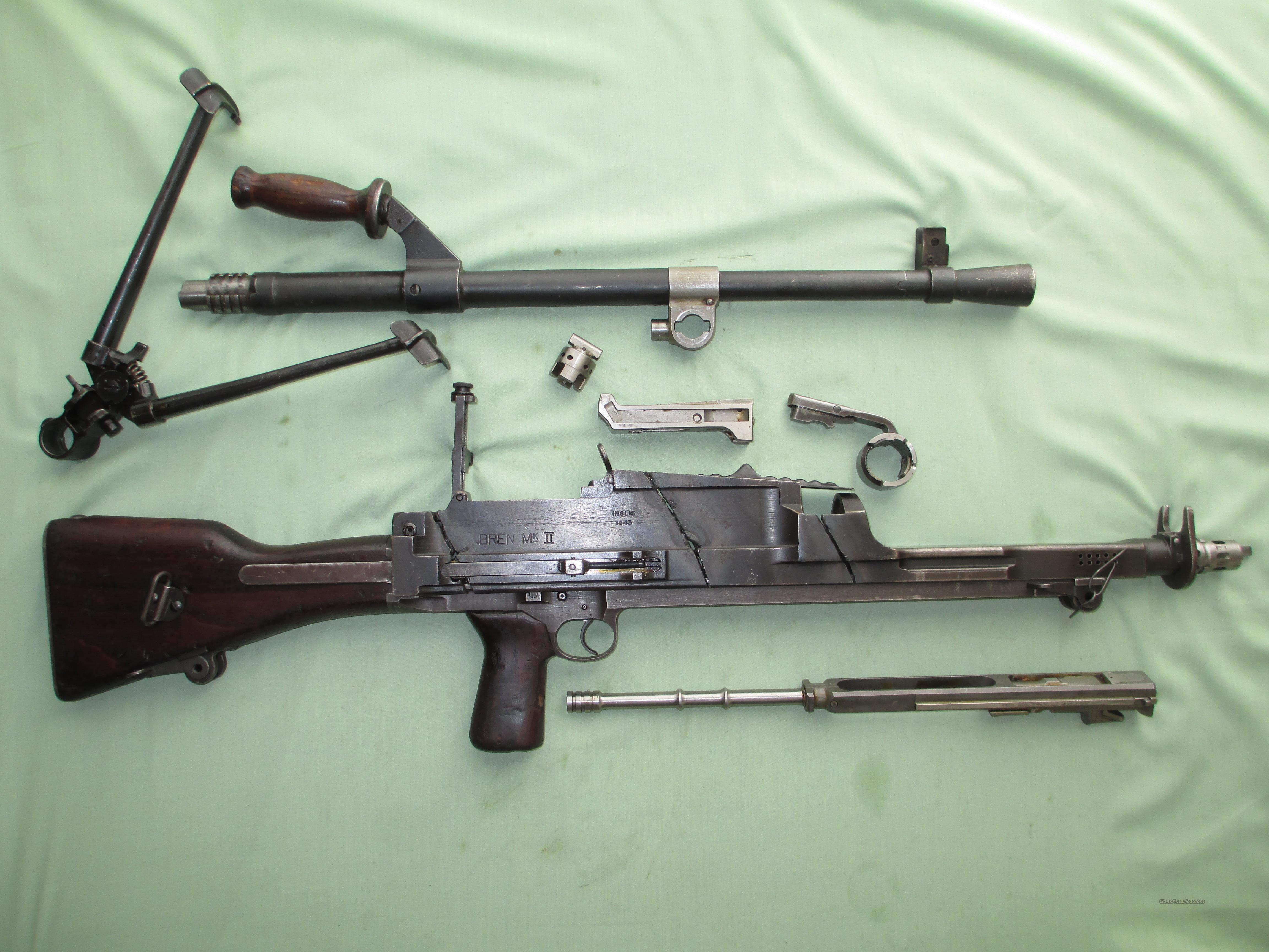 British WWII Bren  303 cal MkII Parts Set with MK2 Demilled Receiver