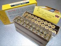 Winchester Brand 25-35  Brass cases 2 Boxes of 20 NOS 39 pcs.