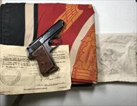 NAZI RARE BROWN WALTHER PPK PISTOL GROUPING WITH HITLER FLAG