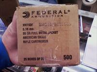 FEDERAL XM193 5.56 .55 GR.FMJ IN 500RD CASE