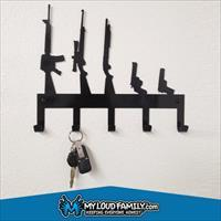 Gun Family key holder Organizer for Entryway