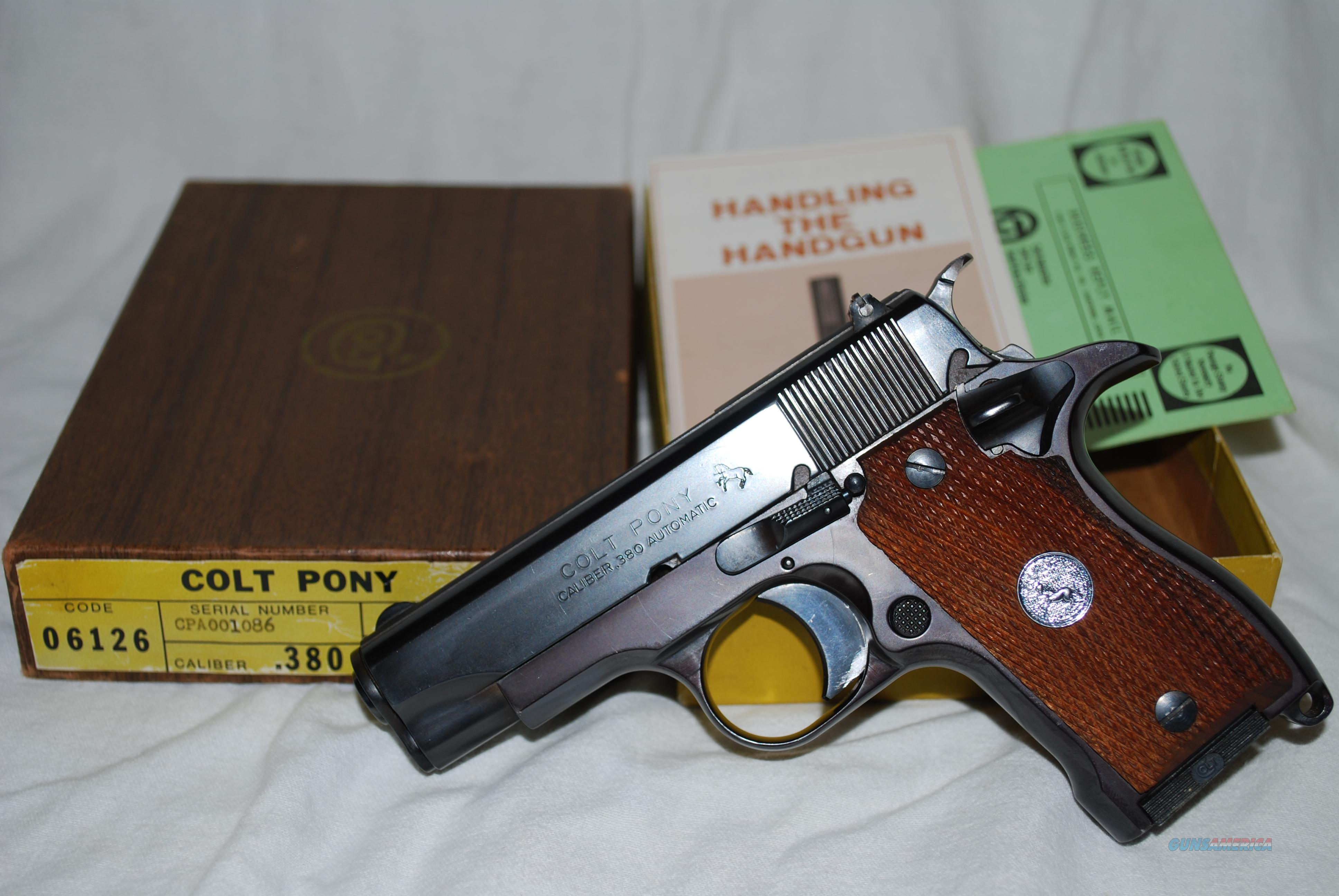 * PROTOTYPE * Colt PONY 380 ACP - ONLY 47 PRODUCED in 1973 *EXTREMELY RARE*