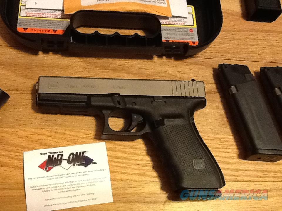 Glock 21 Gen 4 with Nickel Boron Coating (NiBX) w/3 (13+1) Hi-cap mags   45acp G21 Gen 4 New in case
